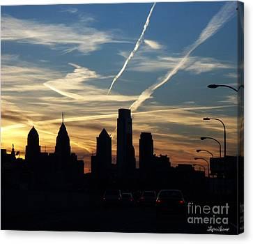 Philadelphia At Dusk Canvas Print by Lyric Lucas
