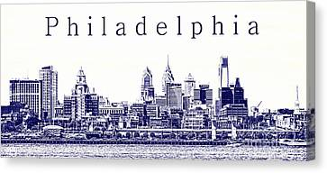 Philadelphia Blueprint  Canvas Print