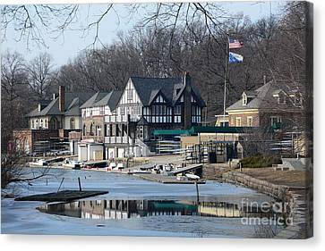 Philadelphia - Boat House Row Canvas Print by Cindy Manero