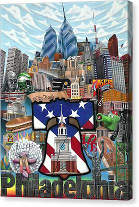 Philadelphia Canvas Print by Brett Sauce