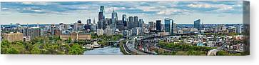 Philadelphia Center City, Schuylkill Canvas Print