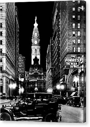 Philadelphia City Hall 1916 Canvas Print by Benjamin Yeager