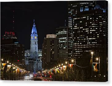 Philadelphia City Hall Canvas Print by Eduard Moldoveanu