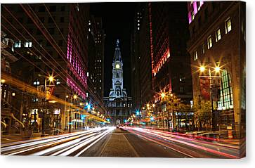 Philadelphia City Hall -- Night Canvas Print by Stephen Stookey