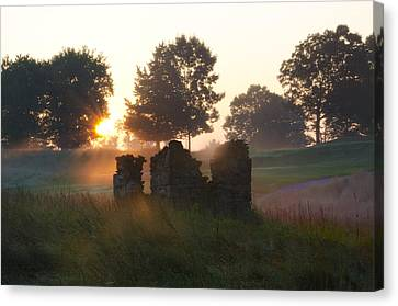 Philadelphia Cricket Club At Sunrise Canvas Print by Bill Cannon