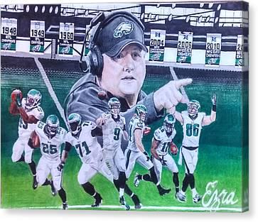 Philly Canvas Print - Philadelphia Eagles Chip Kelly Mural by Ezra Strayer