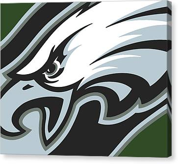 Philadelphia Eagles Football Canvas Print by Tony Rubino
