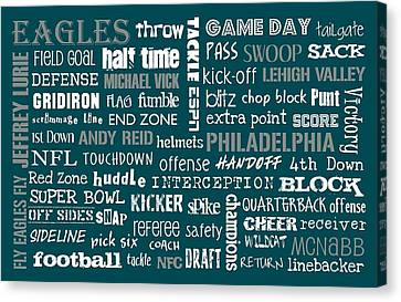 Philadelphia Eagles Canvas Print by Jaime Friedman