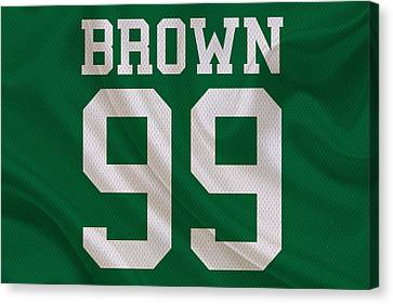 Philadelphia Eagles Jerome Brown Canvas Print by Joe Hamilton