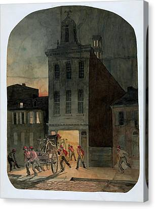 Sociology Canvas Print - Philadelphia Firehouse by Library Of Congress