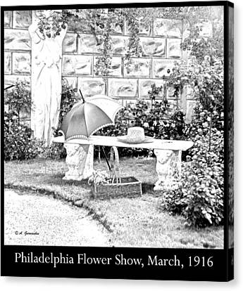Philadelphia Flower Show Display 1916 Canvas Print