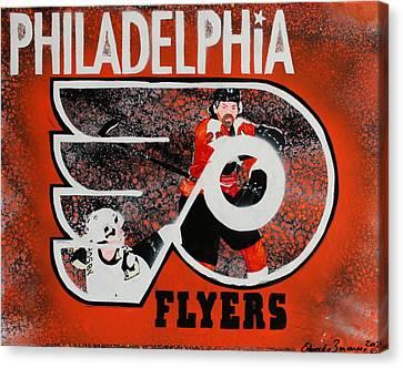 Claude Giroux Canvas Print - Philadelphia Flyers by Eduardo Zancanaro
