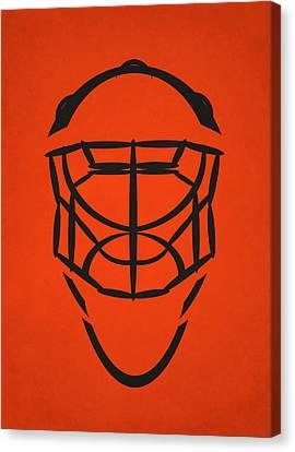Philadelphia Flyers Goalie Mask Canvas Print by Joe Hamilton