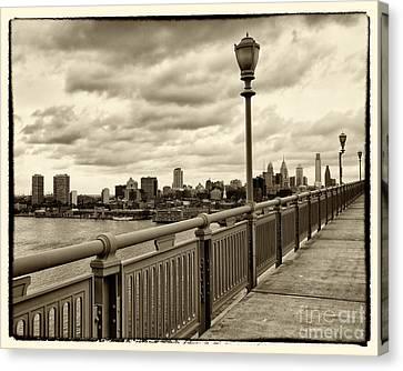 Ben Franklin Canvas Print - Philadelphia From Ben Franklin Bridge 2 by Jack Paolini