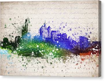 Philadelphia In Color Canvas Print by Aged Pixel