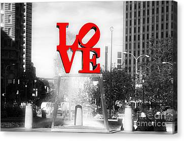 Philadelphia Love Fusion Canvas Print by John Rizzuto