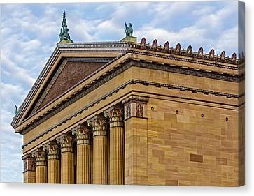 Philadelphia Museum Of Art Column Details Canvas Print