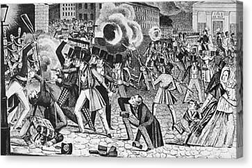Philadelphia Nativist Riot Canvas Print