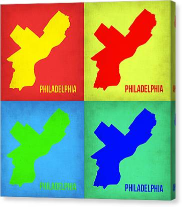 Philadelphia Pop Art Map 1 Canvas Print