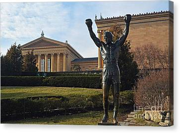 Philadelphia - Rocky  Canvas Print by Cindy Manero