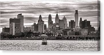 Philadelphia Silver Canvas Print by Olivier Le Queinec