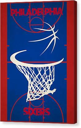 Philadelphia Sixers Court Canvas Print by Joe Hamilton