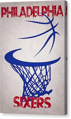 Philadelphia Sixers Hoop Canvas Print by Joe Hamilton