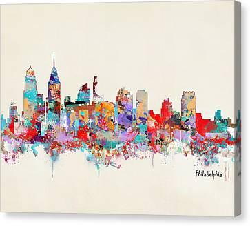 Philadelphia Skyline Canvas Print - Philadelphia Skyline by Bleu Bri