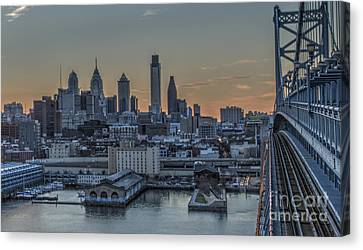 Philadelphia Skyline From Big Ben Canvas Print by Mark Ayzenberg