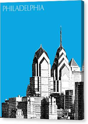Philadelphia Skyline Liberty Place 1 - Ice Blue Canvas Print by DB Artist