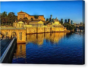Philadelphia Canvas Print - Philadelphia Skyline by Louis Dallara