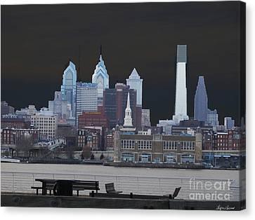 Philadelphia Skyline Canvas Print by Lyric Lucas