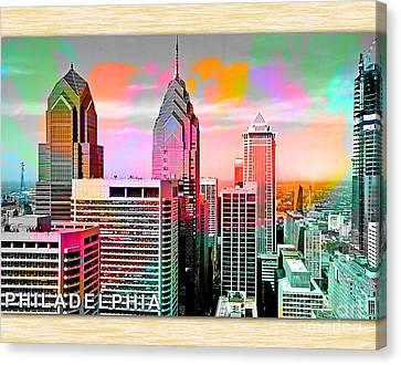 Philadelphia Skyline Canvas Print - Philadelphia Skyline  by Marvin Blaine