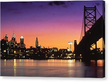 Philadelphia Skyline Canvas Print by Retro Images Archive