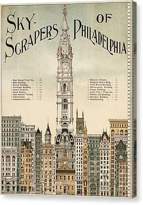Philadelphia Skyscrapers Canvas Print