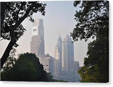 Philadelphia's Skyscrapers Canvas Print by Bill Cannon
