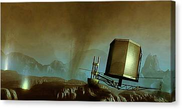 Philae Probe On Surface Of A Comet Canvas Print