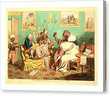 Philanthropic Consolations, After The Loss Canvas Print by English School