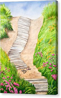 Philbin Beach Path Canvas Print by Michelle Wiarda