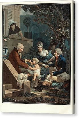 Philibert-louis Debucourt, French 1755-1832 Canvas Print by Litz Collection