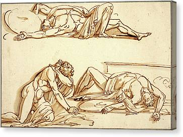 Philippe-auguste Hennequin, French 1762-1833 Canvas Print by Litz Collection