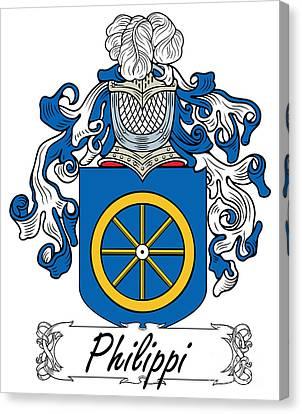 Philippi Coat Of Arms Di Firenze Canvas Print