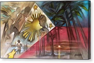 Philippine Flag 2006 Canvas Print by Glenn Bautista