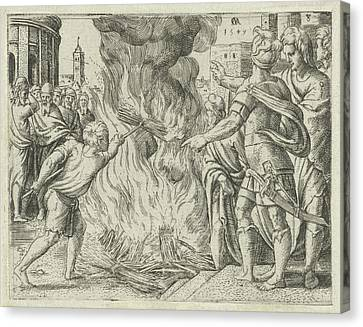 Philistines Burned Samsons Wife And Father Canvas Print