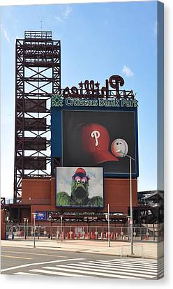 Phillies Citizens Bank Park - Baseball Stadium Canvas Print by Bill Cannon