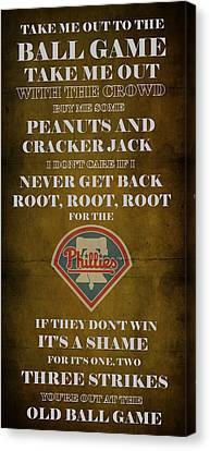 Phillies Peanuts And Cracker Jack  Canvas Print by Movie Poster Prints