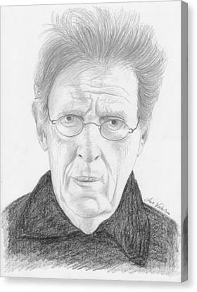 Phillip Glass Canvas Print by M Valeriano