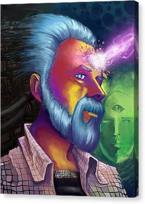 Phillip K. Dick Portrait Canvas Print by Brian Gilbert