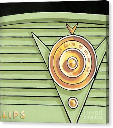 Phillips Radio - Green Canvas Print