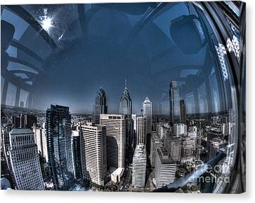 Philly In A Fish Bowl Canvas Print by Mark Ayzenberg